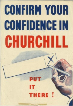1950 - Confirm your confidence in Churchill (Conservative poster)